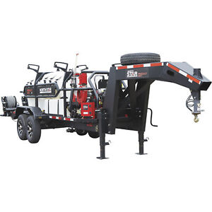 Northstar Proshot Hot Water Pressure Washer Trailer 3000 Psi Gas Kohler 1000 gal