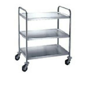 Winco Suc 30 30 In X 16 In 3 tier Stainless Steel Utility Cart