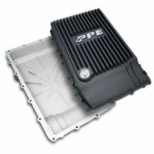 Ppe Black Aluminum Transmission Pan 17 19 Ford F 150 With 10r80 Transmission