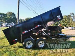 New 2021 7x16 7 X 16 14k Gvwr Hydraulic Dump Trailer Equipment Hauler 36 Sides