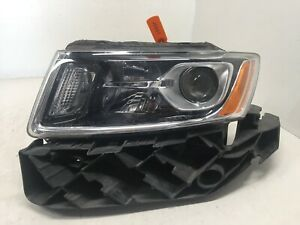Headlight Driver Lh Left Jeep Grand Cherokee Damaged Parts Only 2014 2016 Oem