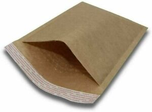 100 2 8 5x12 Kraft Natural Bubble Padded Envelopes Mailers Shipping 8 5 x12
