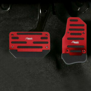 Universal Non slip Automatic Pedals Pad Cover Set Car Accessories Kits Red New