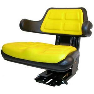 Yellow Wrap Around Back Seat W Arms Fits Allis Chalmers Fits Case Ih Fits Ford