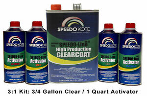 Clearcoat Gallon Kit W Medium Act Automotive Very Fast Dry Clear Coat 3 1 Mix