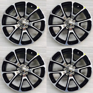 18x7 5 Dodge Dart Oem Wheels Rims Black Set Of 4 Mopar Chrysler Accessory