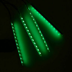 Green 12led Car Auto Atmosphere Strip Light Interior Lamp With Cigarette Lighter