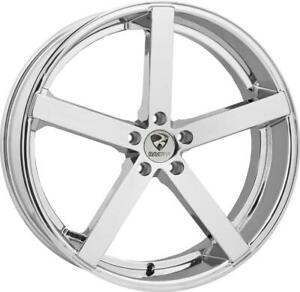 20 Inch 20x8 5 Ravetti M2 Chrome Wheels Rims 5x4 5 5x114 3 38