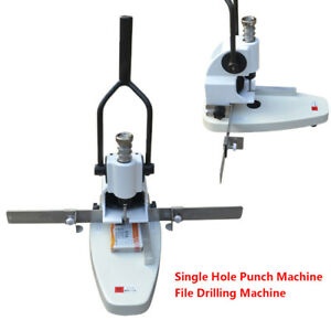 Single Hole Punch Machine File Drill Machine For Card Album Paper Tags Qy t30