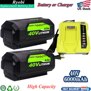 For Ryobi 40V 6.0Ah Lithium Battery High Capacity OP4015 OP4026 or Charger OP401 $61.05