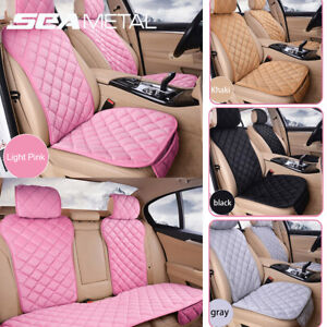 Us Car Seat Cover Plush Soft Front Rear Set Universal Car Accessories Interior