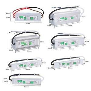 Outdoor Waterproof Transformer Power Supply Adapter Led Light Driver Ac dc 12v
