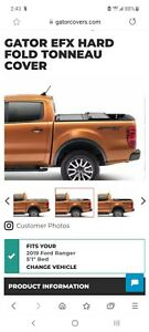 New Unopened 2019 Ford Ranger 5 Foot Bed Gator Efx Hard Tri Fold Tonneau Cover
