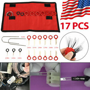 17pcs Car Audio Disassembly Tool Kit Wire Terminal Removal Connector Pin Ejector