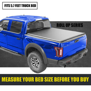 5 7 Ft Roll Up Soft Tonneau Cover Truck Short Bed For 2009 2021 Dodge Ram 67