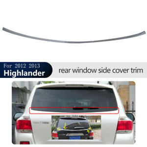 Abs Chrome Rear Window Side Strip Cover Trim For Toyota Highlander 2012 2013