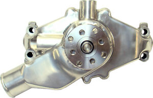 Proform Sbc Aluminum Water Pump Short Polished 68244