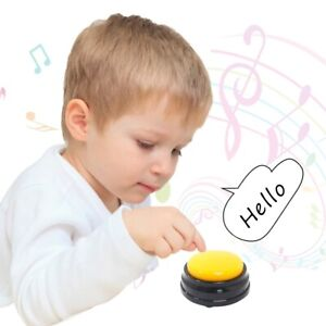 Recordable Talking Button Game Answer Buzzer Alarm Button Kid Learning Voice Toy