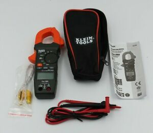 Klein Tools Cl220 400 Amp Ac Auto ranging Digital Clamp Meter W Leads Case