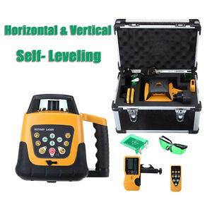 Automatic Self leveling 360 Rotary Laser Level Green Beam 500m Level Tool Kit