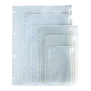 12x A5 A6 A7 Pvc Zip zippy Bags Organizer Folder Pocket Subject Storage Wallet
