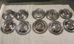 1951 52 53 54 Packard Vintage Factory Original Oem Hubcap Wheel Covers Lot Of 3