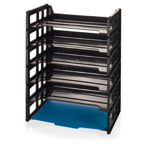 Officemate Side Load Letter Tray Black 6 Pack 21062