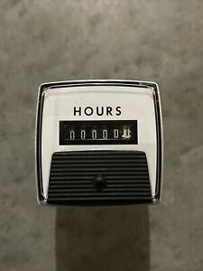 General Electric Hour Meter 120v Ac Ge Panel Type 60 Hz 120 Volts