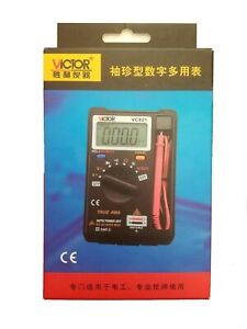 Victor Vc921 Digital Pocket Lcd Dmm Multimeter Voltmeter Us Shipping With Track