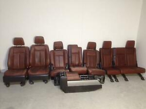 Seats Front Rear Center Console Set Fits 2008 Ford Expedition King Ranch 32588