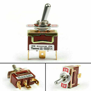 1x Toowei 2 Terminal 3pin On on 15a 250v Toggle Switch Boot Spdt Grade