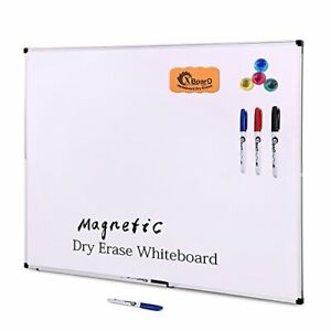 Double sided 36 X 24 Inch Magnetic Dry Erase Board Set Wall 36 X 24
