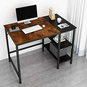 Joiscope Home Office Computer Desk small Study Writing With Wooden Storage Table
