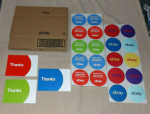 Mixed Lot Ebay Branded Shipping Supplies Boxes Thanks Cards Ty ebay Stickers