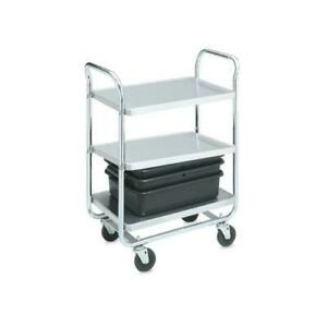 Vollrath 97166 28 In X 16 In 3 tier Stainless Steel Utility Cart