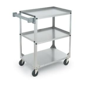 Vollrath 97121 30 7 8 In X 17 3 4 In 3 tier Stainless Steel Utility Cart