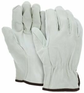 Mcr Safety 32013 Leather Drivers Work Gloves Cv Grade Grain Cow Straight Thumb