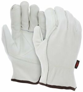 Mcr Safety 32113dps Leather Drivers Work Gloves Select Grade Grain Cow Double Pa