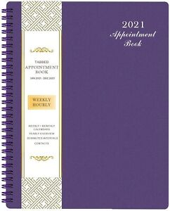 2021 Weekly Appointment Book Planner daily Hourly Planner 8 X 10 purple