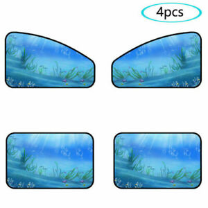 4pcs Car Sunshade Side Window Magnetic Cover Privacy Curtain Window Screen Cover