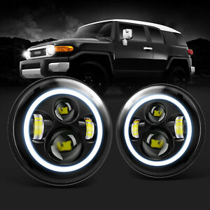 7 Led Projector Headlights For Toyota Fj Cruiser 2007 2014 H6024 High Low Beam