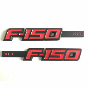 2x New Red Pair F 150 Xlt Drivers Side Fender Emblem Badges For Ford F150