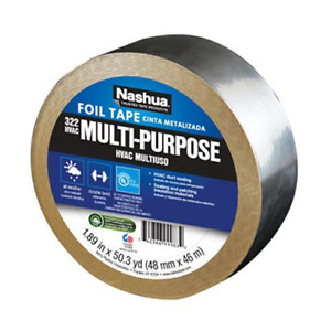 Nashua 322 Hvac Multi purpose Foil Tape 46m Length 48 Mm Width Aluminum