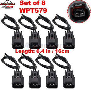 8x Pigtail Ignition Coil Connector Wireness Plug For Ford F 150 250 4 6 5 4 6 8l