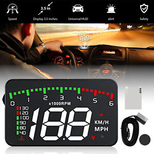 3 5 Car Obd2 Hud Head Up Display Overspeed Km H Speed Water Temp Warning 12v