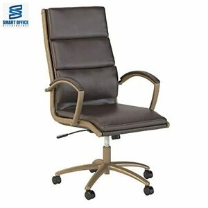 Bush Business Furniture Modelo High Back Leather Executive Office Chair In Brown