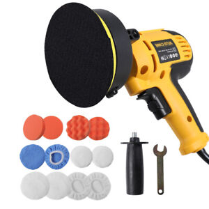 600w 5in Electric Car Polisher Buffer Sander Waxer Machine Kit Variable 6 Speed