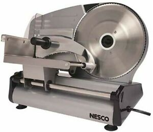 Electric Meat Cheese Slicer Stainless Blade Food Deli Cutter Steel Commercial