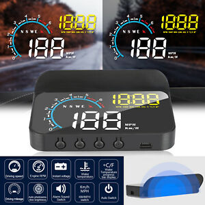 Obd2 Gps Car Digital Gps Speedometer Head Up Display Overspeed Mph Tired Warning