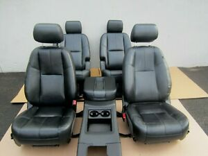 2015 2018 Tahoe Yukon Oem Front Second Row Black Leather Seat Set Wh
